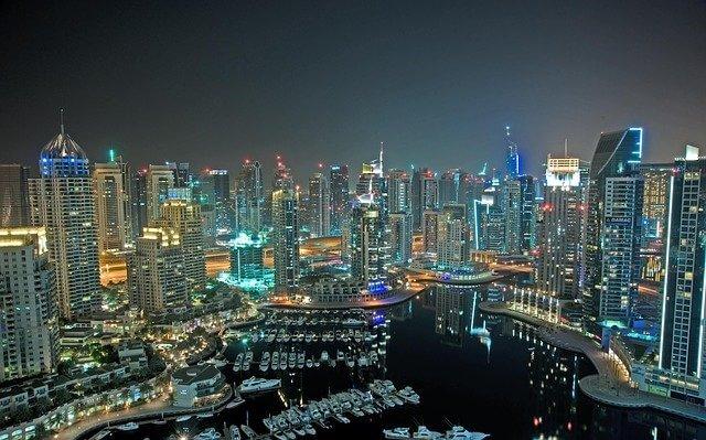 アラブ首長国連邦、ドバイ夜景