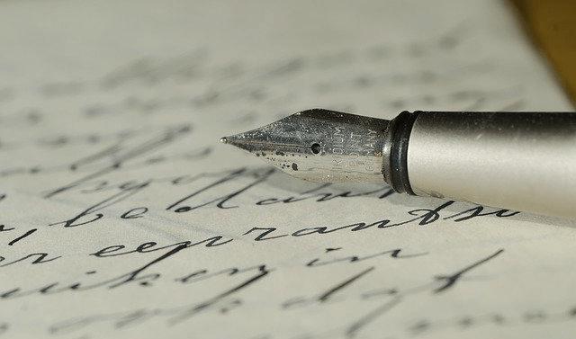 書き込み、紙と万年筆
