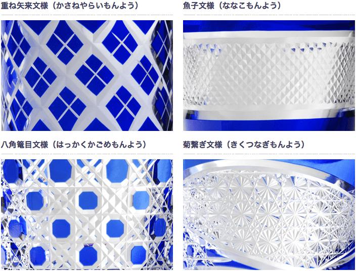 江戸切子の代表的な紋様