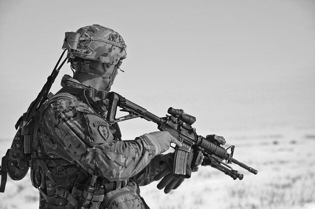 紛争地帯の兵士