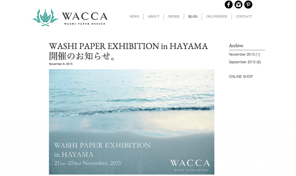 WACCA JAPAN washi