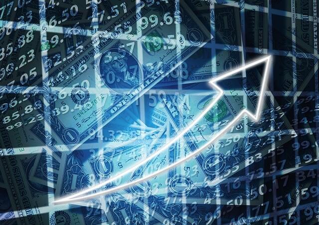 株式市場、株値上がり