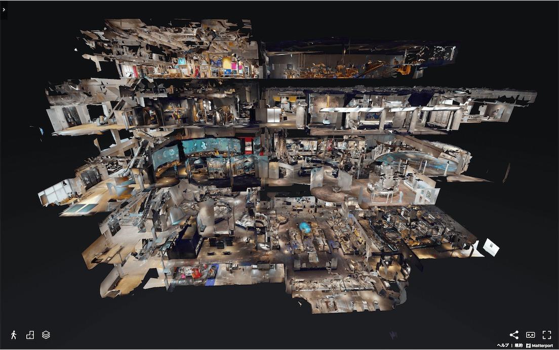 国立科学博物館「おうちで体験!かはくVR」建物俯瞰